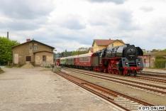 Am Folgetag stand die Dampflok 01 0509 in Strausberg auf dem Plan.