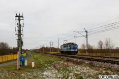 Neuer Tag, neues Glück. Eine EP07 von PKP Intercity kam ohne Zug aus Weißrussland nach Terespol.