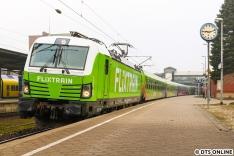 Am Morgen des 28. Februar erlegte ich die frisch beklebte 193 813 in Harburg. Es dürfte das erste Bild im Einsatz überhaupt sein.