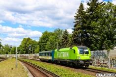 Am Bahnhof Friedrichsberg in bester Sonne...