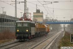 Bei gar nicht so gutem Wetter fuhr ich am 5. März für die 242 001 nach Tostedt.