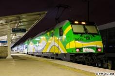 Überrascht wurden wir dann von einem KM-Regionalexpress, welcher mit einer EU47 bespannt war, hierzulande als Baureihe 146 bekannt.
