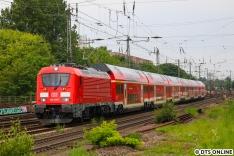 """Ebenso die 102 004 auf Probefahrt nach Langenfelde. Die Garnituren wurden von Skoda gebaut und sollen seit 2016 auf dem """"München-Nürnberg-Express"""" verkehren. Wie das aber immer so ist, wurde daraus nichts, die Zulassung soll wohl aber inzwischen vorliegen."""